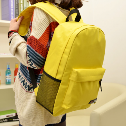 Fashion Yellow Canvas Backpack Bags..