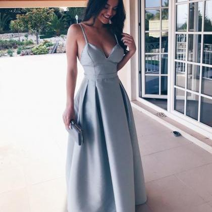 Classic A-Line Long Prom Dress in S..