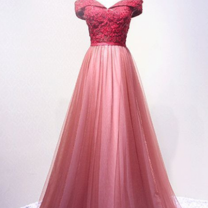 Long Prom Dress, Tulle Prom Dresses..