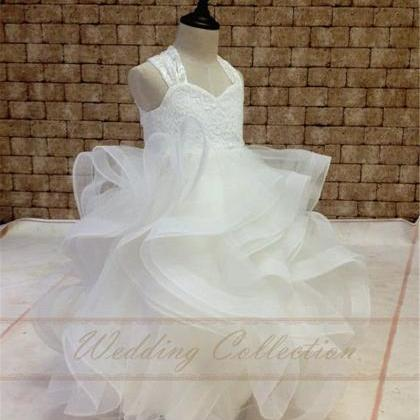 Flower Girl Dress Lace With Horse H..