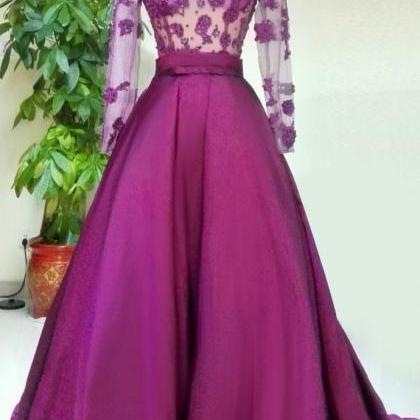 Long Sleeve Prom Dress,Sexy Evening..