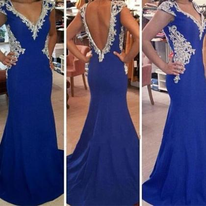 Prom Dress,Mermaid Evening Dress,V-..