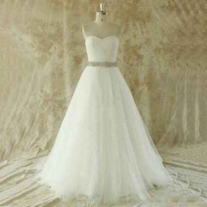 Simple Vintage Wedding Dress, Plus Size Sweetheart Wedding Dresses ...