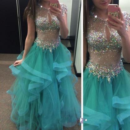 Luxury beads Prom Dress,Sexy Open B..