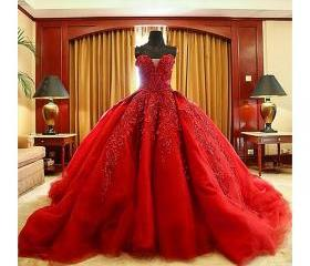 Red Lace Appliques S..