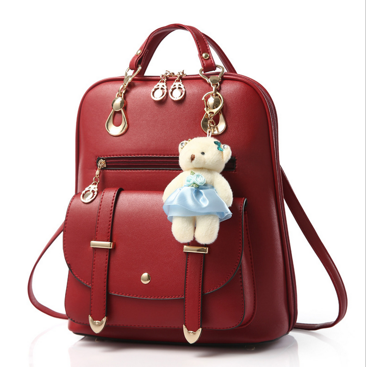 49169be71f Fashion Wine Red Backpack