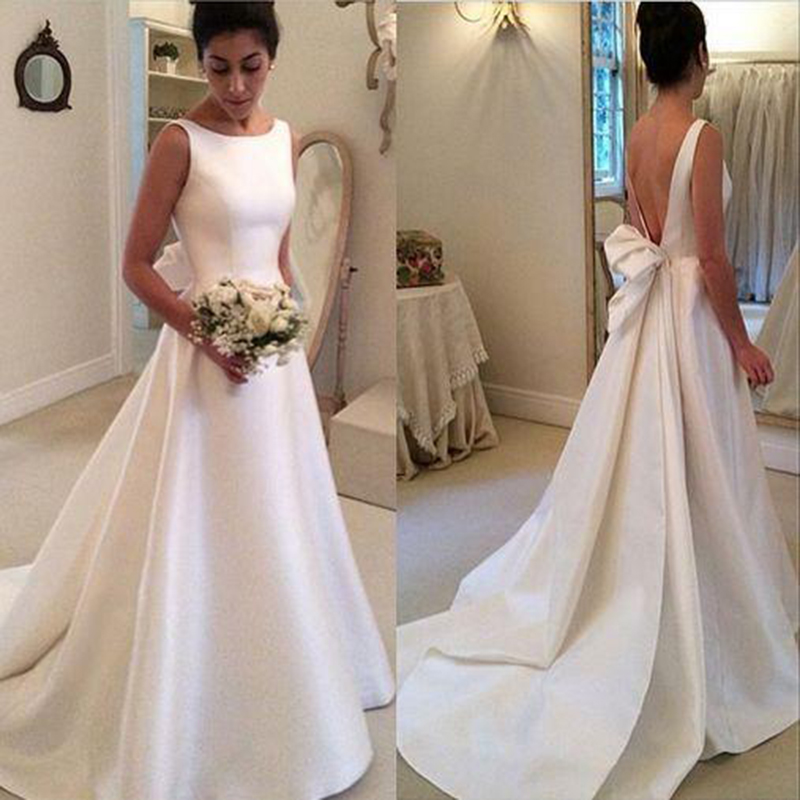 Wedding Dresssatin Wedding Dressessimple Wedding Dresseswedding