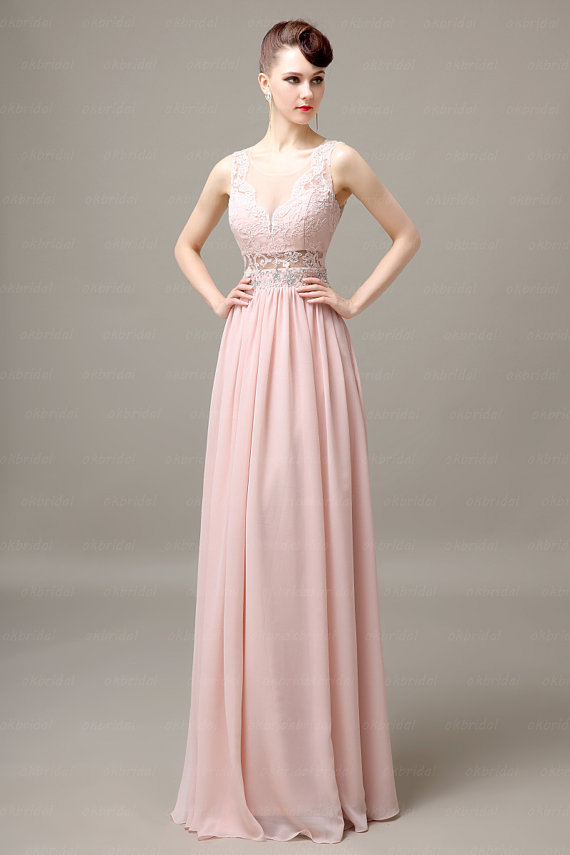 Lace Bridesmaid Dress Blush Dresses Off Shoulder Long Chiffon Beautiful