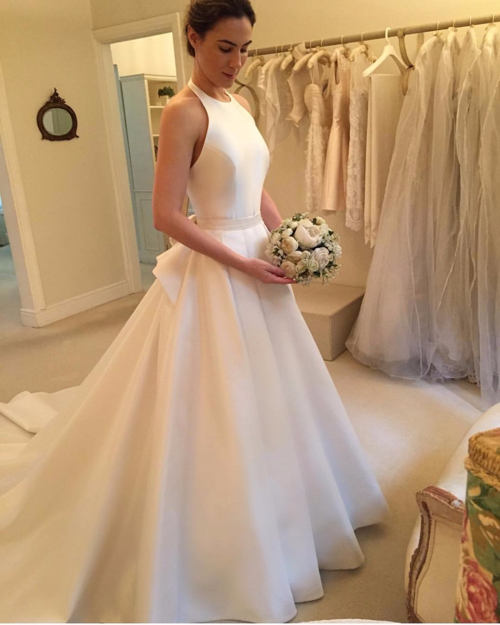 Wedding Gowns: Modern Wedding Dresses,Halter Wedding Dresses, Satin