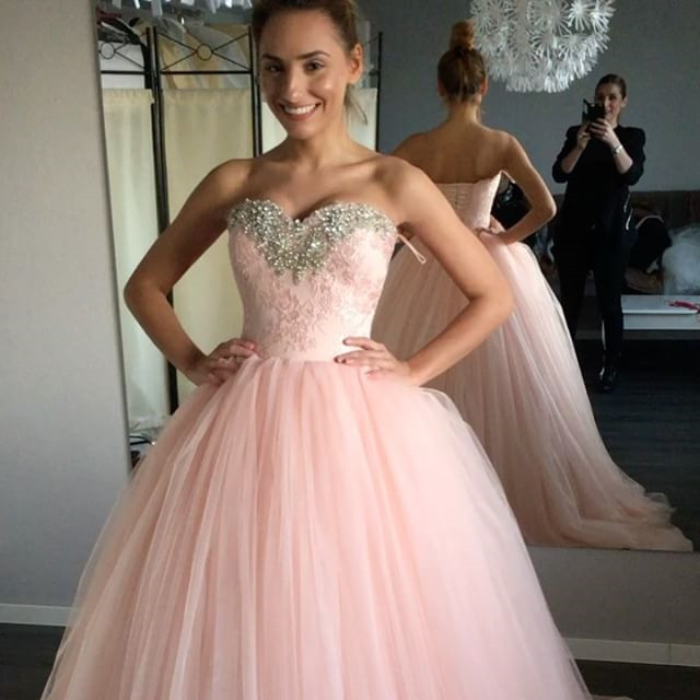 Pink Wedding Dresses,ball Gowns Quinceanera Dress,quinceanera ...