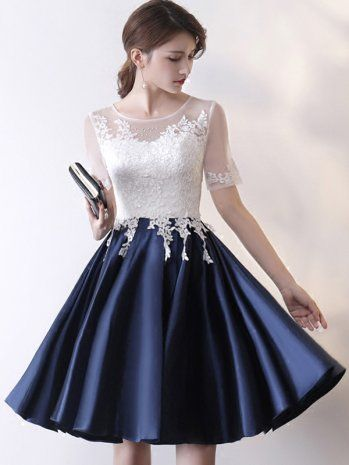 Charming Prom Dresses,Elegant Prom Dress,Short Sleeves Prom Dress,Short Homecoming Dress,Lace Up Prom Gown