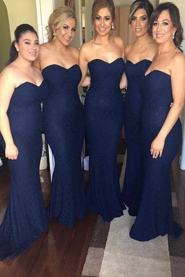 New Navy Bridesmaid Dress, Long Bridesmaid