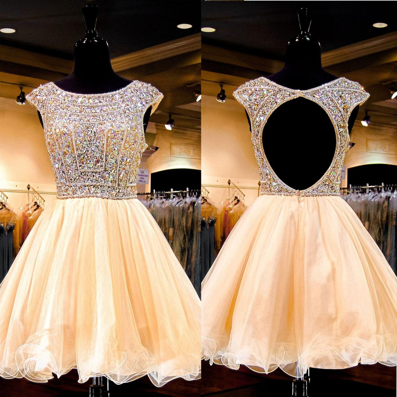 Luxury Homecoming Dressshort Homecoming Dresscrystal Beaded