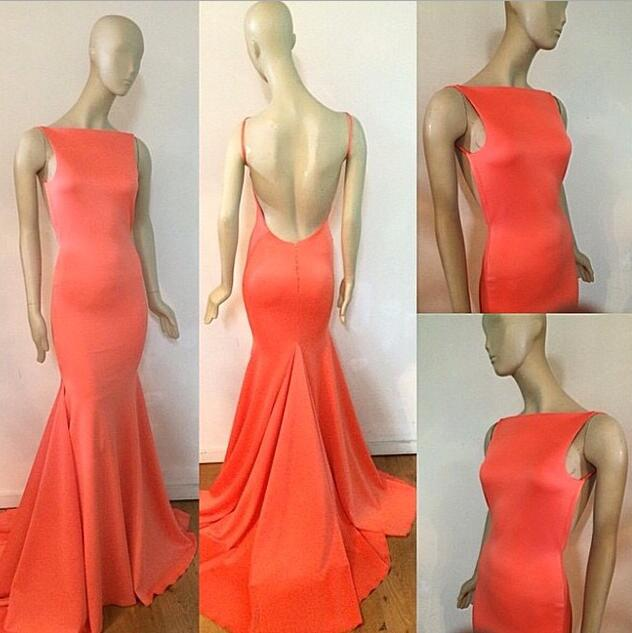 Sexy Prom Dress,Prom Dress,Orange Evening Gown,Long Formal Dress,Orange Prom Gowns,Open Backs Night Club Dresses,Orange Prom Dress