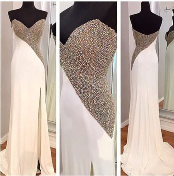 Mermaid Prom Dresses,Champagne Prom Dress,Slit Prom dress,Modest Evening Gowns,Elegant Party Dresses,Long Evening Gowns,Split Evening Gowns,Slit Party Dress