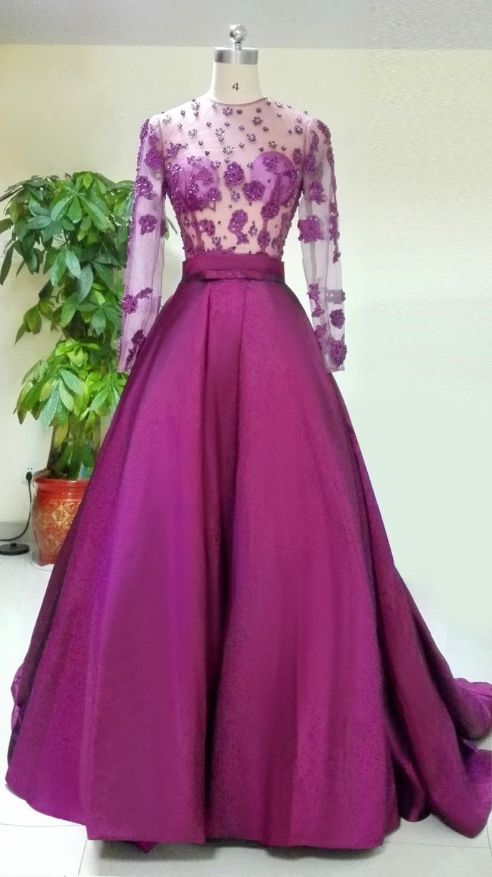 Long Sleeve Prom Dress,Sexy Evening Dress,Long Prom Dresses,Formal Dress