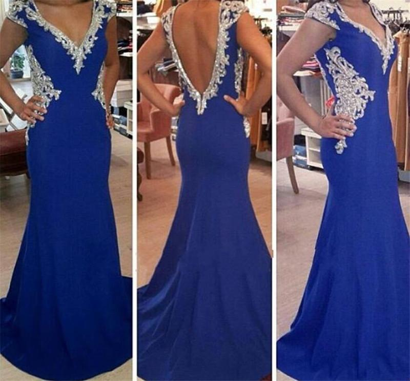Prom Dress,Mermaid Evening Dress,V-Neck Evening Dress,Backless Evening Dress,Formal Evening Dress,Satin Evening Dress