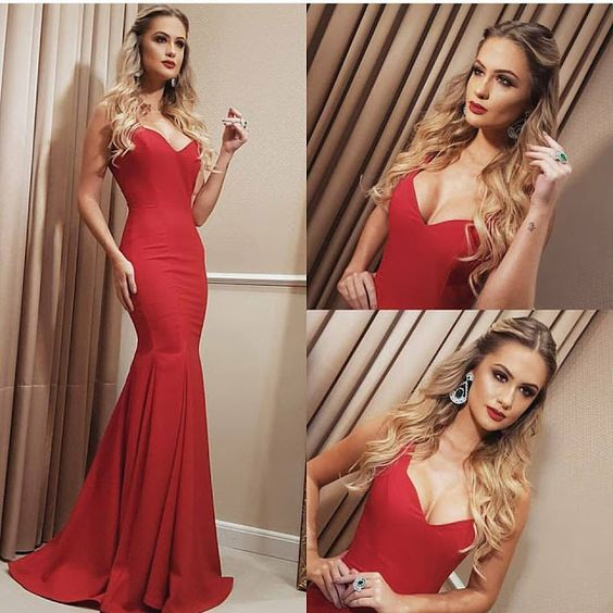 Sexy Prom Dresses,Red Prom Dress,Backless Evening Gown,Long Formal Dress,Elegant Prom Gowns,Open Backs Night Club Dresses