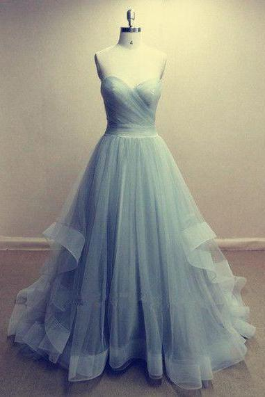 Long Prom Dress,Tulle Prom Dress, Simple Prom Dress,Aline Prom Dress,Elegant Prom Dress,Sexy Prom Dress, PD0071