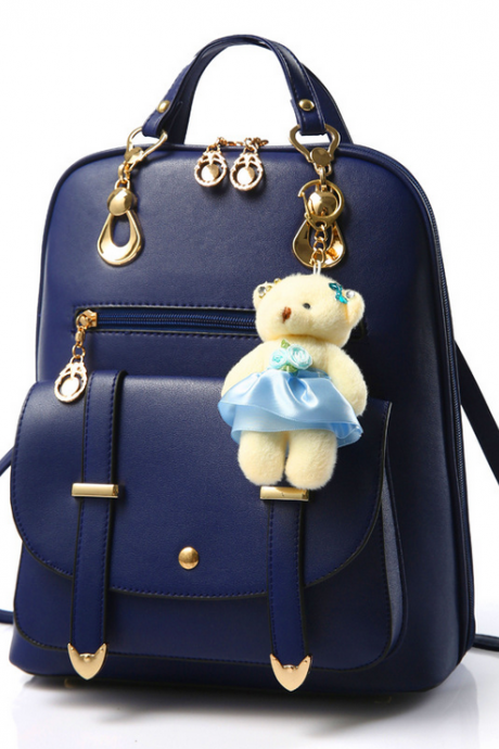 Fashion Backpack, Women Leather Backpacks For Teenage Girls School Bags