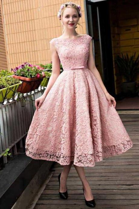 Princess Homecoming Dresses,Lace Homecoming Dress,A-line Homecoming Dresses,Pink Homecoming Dresses,Bandage Homecoming Dresses,Short Prom Dresses,Party Gowns