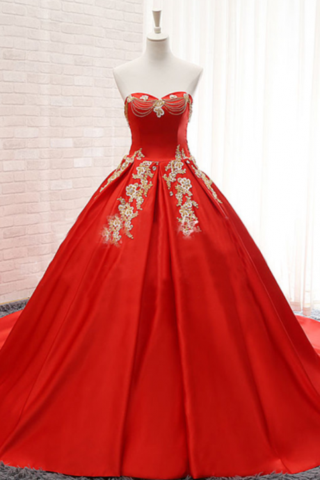 Real Photo Color Wedding Dresses,Long Satin Lace Wedding Dress,Strapless Plus Size Lace up Red China Cheap Gelinlik Vintage Bridal Gowns