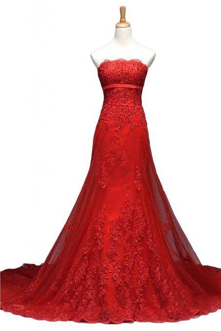 Red Lace Prom Dress,Applique Prom Dress,Bodycon Prom Dresses,Fashion Prom Dress,Sexy Party Dress, New Evening Dress