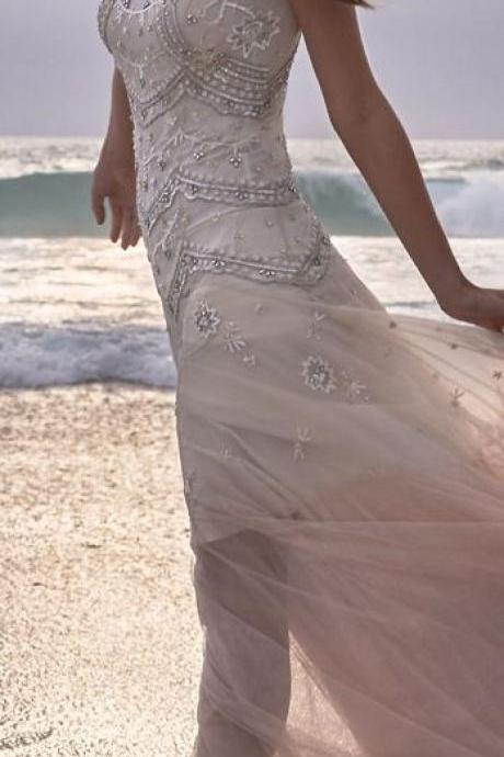 Wedding Dresses,Champagne Wedding Gown,Princess Wedding Dresses elegant tulle wedding dresses