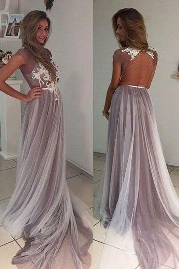 Charming Prom Dress,Backless Prom Dresses,Sexy Evening Dress,Long Evening Dresses,Lace Prom Party Dress,Prom Gown