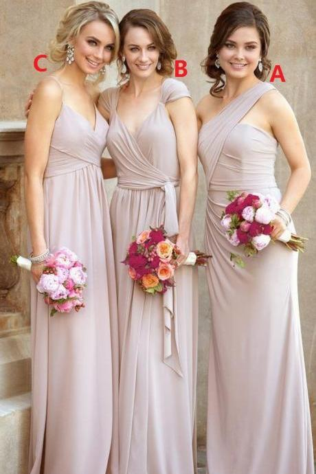 Hot Sale Charming Pleated Prom Dress,Long Prom Dress,Fashion Bridesmaid Dress,Sexy Party Dress, New Style