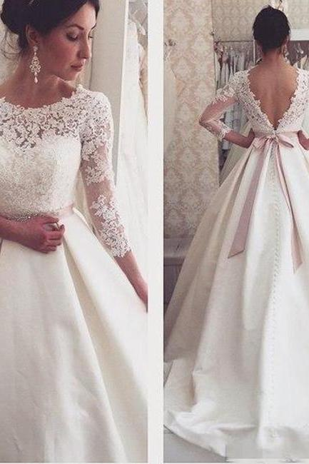Wedding Dresses, Lace Wedding Dresses, Cheap Wedding Dresses, Backless Wedding Dresses, Bridal Gown, White Wedding Dress