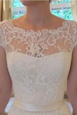 Charming Wedding Dress, Cap Sleeve Wedding Dresses,Lace Wedding Dress,Wedding Gown, Bridal Dresses