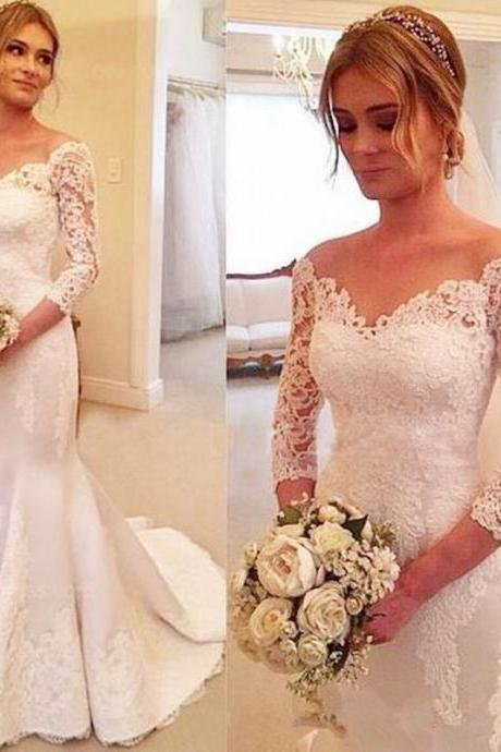 New Arrival Mermaid Wedding Dresses,Floor-Length Wedding Dresses, Wedding Dresses, White Wedding Dress,Wedding Dresses, Dresses For Wedding
