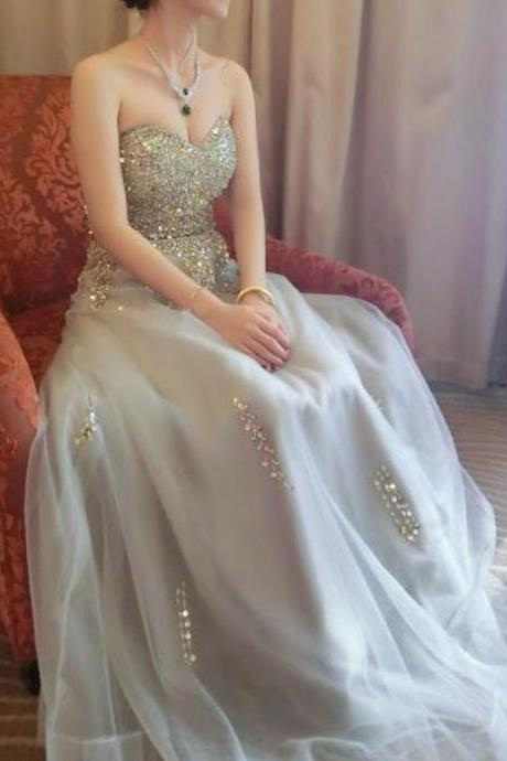 Long prom dress, lace up back prom dress, sweetheart prom dress, elegant prom dress, inexpensive prom dress, evening dress