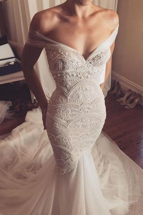 long wedding dress,sexy bridal dresses,off the shoulder wedding dresses,evening dresses