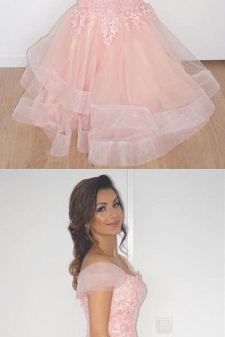 blush pink prom dress,mermaid evening dress,off the shoulder evening gowns,long formal dresses