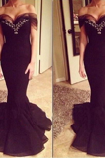 Mermaid prom dress, elegant prom dress, charming prom dresses, sexy Formal dress, unique prom dress, evening prom gown, cheap prom dress, black prom dress, unique prom dress