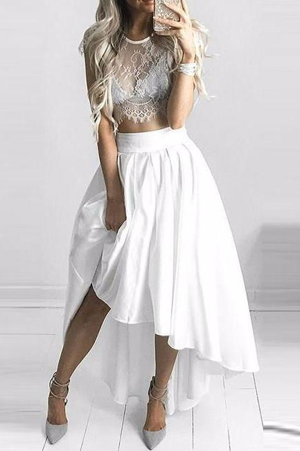 White Lace Prom Dress,Prom Dresses,Evening Dress, Evening Dresses,Prom Gowns, Formal Women Dress, Evening Gowns