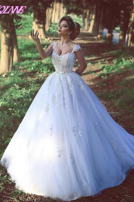 White Wedding Dress,Bridal Dresses,Wedding Gown,Bridal Gowns,Spaghetti Wedding Dress,Lace-up Wedding Dresses