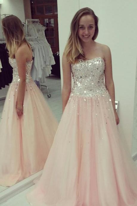 Prom Dress,High Quality Prom Dresses,Prom Dress,Strapless Prom Dresses, A Line Prom Dress,tulle Prom Dress,Strapless Prom Dress, Sequined Prom Dress, Formal Dress, Sexy Gril Dress, Floor-Length Prom Dresses, Evening Dresses, Custom Dress