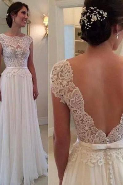 Wedding Dress,Sexy Elegant White Wedding Dress,Floor-Length Wedding Dress, Sexy Wedding Dress,Backless Bridal Dress,Sheer Prom Dress,Chiffon Wedding Dress, Elegant Prom Dress,Fashion Prom Dress,Charming Wedding Dresses,Cheap Bridal Dress,Formal Dress, Sexy Gril Dress, Floor-Length Prom Dresses, Evening Dresses, Custom Dress