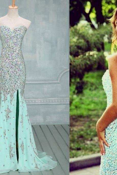 Luxury beads pSexy Elegant Gorgeous Prom Gown,Front Slit Prom Gown,Beaded Prom Gowns,Sequin Prom Gown,Mermaid Prom Gown,Sexy Prom Gown,Long Prom Gown,Party Dress, Prom Dress, Prom Dresses,Cheap Prom Dress,Formal Dress, Sexy Gril Dress, Floor-Length Prom Dresses, Evening Dresses, Custom Dress