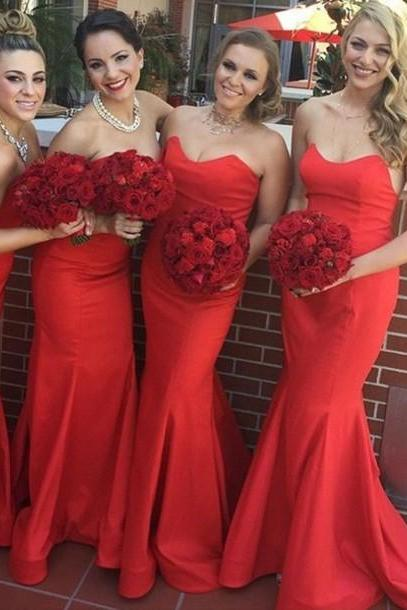 Bridesmaid Dress,New Arrival :Long Mermaid Bridesmaid Dress Wedding Party Gown,Cheap Prom Dress,Formal Dress, Sexy Gril Dress, Floor-Length Prom Dresses, Evening Dresses, Custom Dress