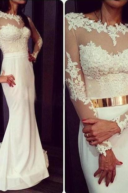 Lace Prom Dress,Sexy Dress For Prom With Long Sleeves ,Cheap Prom Dress,Formal Dress, Sexy Gril Dress, Floor-Length Prom Dresses, Evening Dresses, Custom Dress