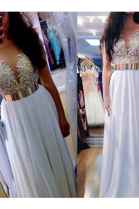 Fashion Dress For Prom With Beaded Top,Cheap Prom Dress,Formal Dress, Sexy Gril Dress, Floor-Length Prom Dresses, Evening Dresses, Custom Dress