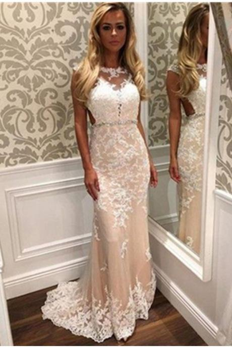 Sweep Train Long Lace Prom Dresses,Charming High Low Prom Dress,Classy Prom Gowns,Formal Prom Dresses,Cheap Prom Dress,Formal Dress, Sexy Gril Dress, Floor-Length Prom Dresses, Evening Dresses, Custom Dress