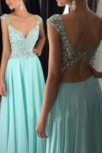 Charming Cap Sleeve Crystal Beaded Long Prom Dress,Keyhole Back Prom Dress,Homecoming Dress Long ,Prom Dress for Juniors,Evening Dress for Women ,Formal Gown,Cheap Prom Dress,Formal Dress, Sexy Gril Dress, Floor-Length Prom Dresses, Evening Dresses, Custom Dress