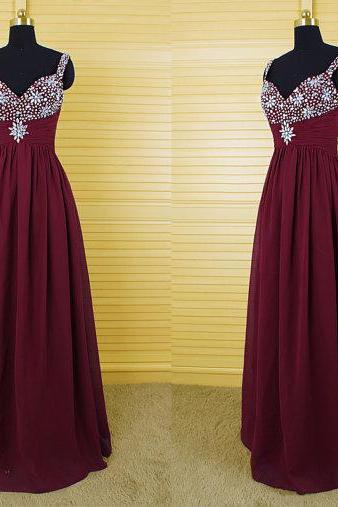 Long Prom Dress, Burgundy Prom Dress, Party Prom Dress, Chiffon Prom Dress, Cheap Prom Dress, Evening Prom Dress,Cheap Prom Dress,Formal Dress, Sexy Gril Dress, Floor-Length Prom Dresses, Evening Dresses, Custom Dress