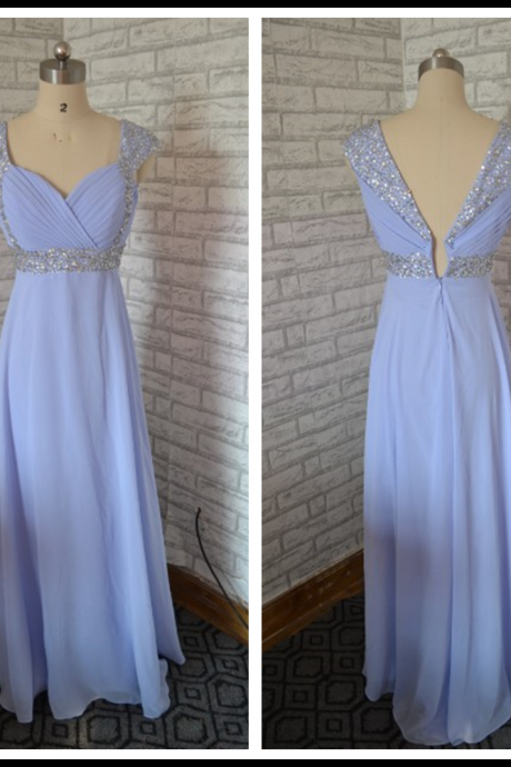 Cheap homecoming dresses,chiffon homecoming dresses,blue homecoming dresses,long homecoming dress,beaded homecoming dresses ,Cheap Prom Dress,Formal Dress, Sexy Gril Dress, Floor-Length Prom Dresses, Evening Dresses, Custom Dress