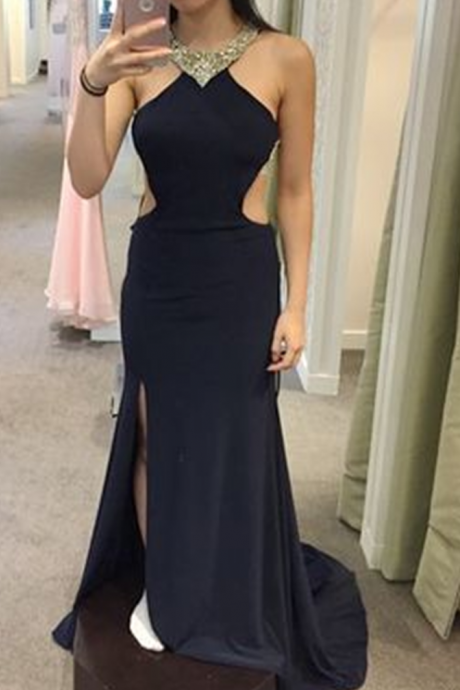 Prom Dress, Sexy Evening Dress,Long Split Side Prom Dress,Chiffon Evening Dress,Backless Party Dress ,High Quality Graduation Dresses,Wedding Guest Prom Gowns, Formal Occasion Dresses,Formal Dress
